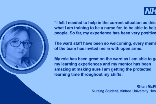 Thanking the thousands of students on the North West's NHS frontline