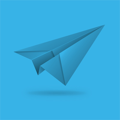 Illustration of a paper aeroplane