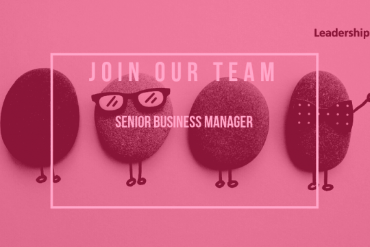 We're recruiting - Senior Business Manager